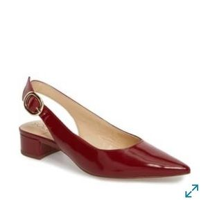Sole society Mariol slingback pumps - deep red